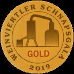 Auszeichnung in Gold für den Traubenbrand Irsai Oliver der Privatbrennerei Artner